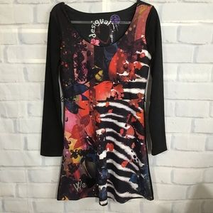 Desigual Black Fit/ Flare Dress NWT